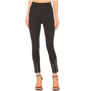T by Alexander Wang Stretch Cotton Ankle Zip Pant
